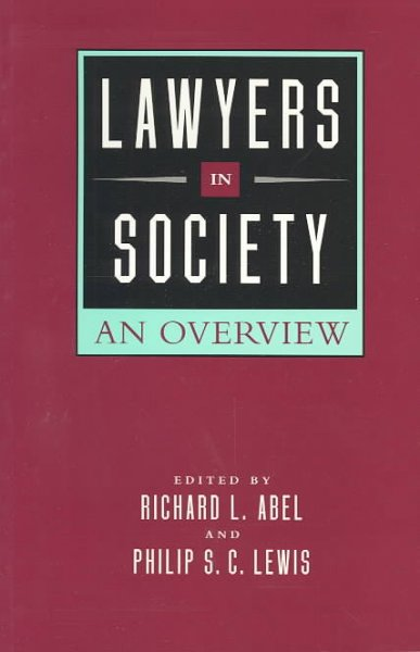 Lawyers in Society: An Overview cover
