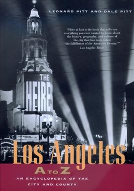 Los Angeles A to Z: An Encyclopedia of the City and County cover