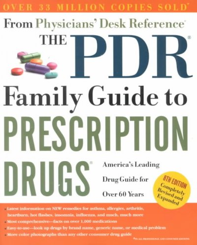 The Pdr Family Guide to Prescription Drugs 8th Ed cover