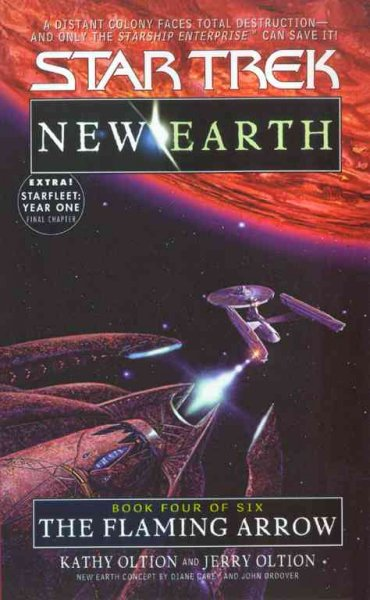The Flaming Arrow (Star Trek: New Earth, Book 4) cover