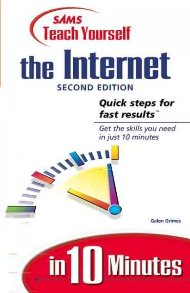 Sams Teach Yourself the Internet in 10 Minutes (2nd Edition) cover