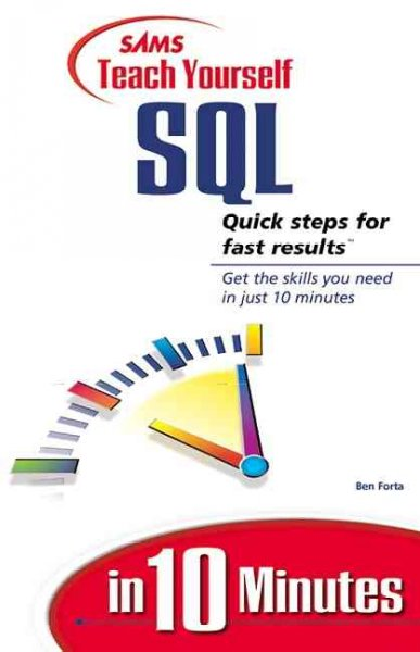 Sams Teach Yourself SQL in 10 Minutes cover