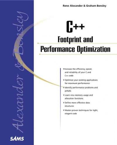 C++ Footprint and Performance Optimization (Sams Professional) cover