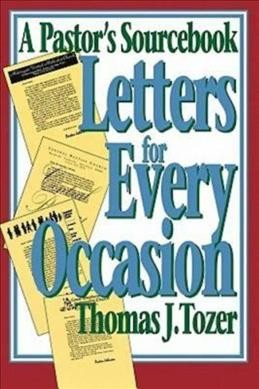 Letters for Every Occasion: A Pastor's Sourcebook cover