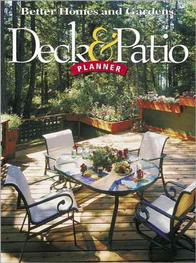 Deck & Patio Planner (Better Homes & Gardens) cover