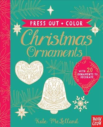 Press Out and Color: Christmas Ornaments cover