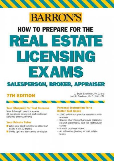 How to Prepare for the Real Estate Licensing Exams: Salesperson, Broker, Appraiser (BARRON'S HOW TO PREPARE FOR REAL ESTATE LICENSING EXAMINATIONS) cover