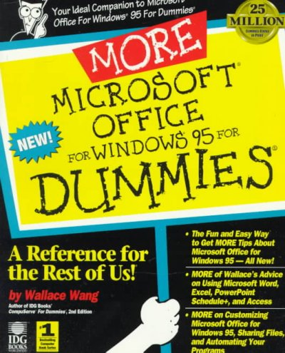 More Microsoft Office for Windows 95 for Dummies: A Reference for the Rest of Us