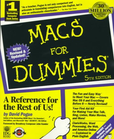 Macs for Dummies (5th ed) cover