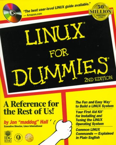 LINUX For Dummies (2nd ed) cover