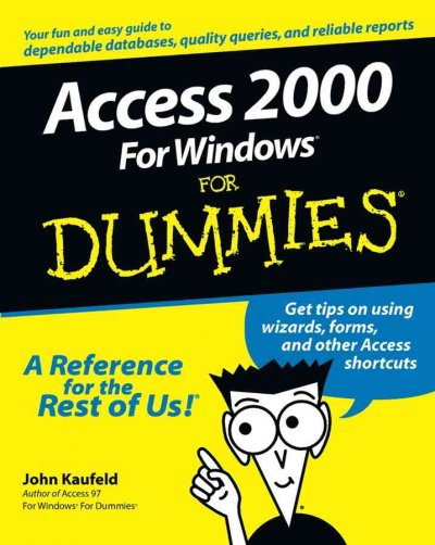 Access 2000 For Windows For Dummies