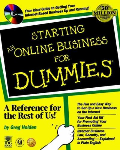 Starting An Online Business For Dummies? cover