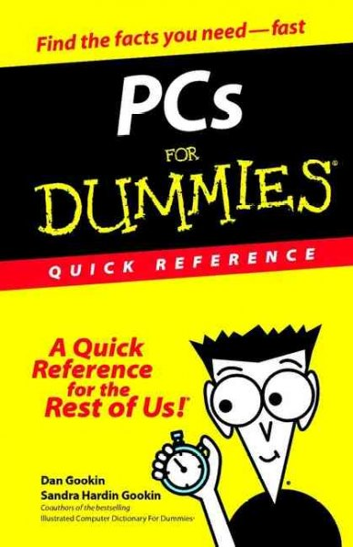 PCs For Dummies Quick Reference cover