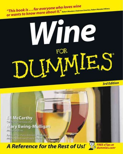 Wine For Dummies (For Dummies (Lifestyles Paperback)) cover