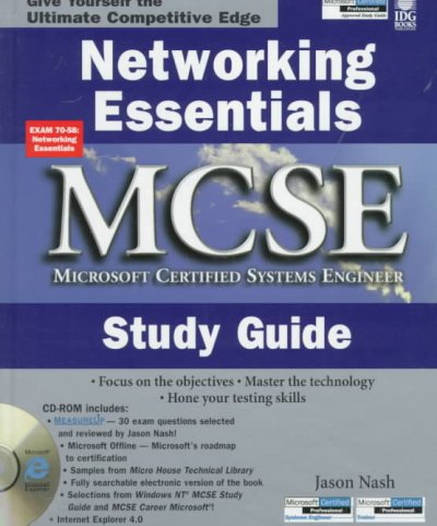 Networking Essentials McSe Study Guide (MCSE Certification) cover