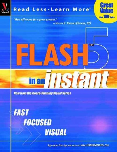 Flash 5 In An Instant (Visual Read Less, Learn More) cover