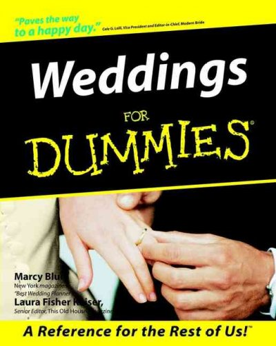 Weddings For Dummies cover