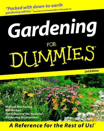 Gardening For Dummies (For Dummies (Computer/Tech)) cover