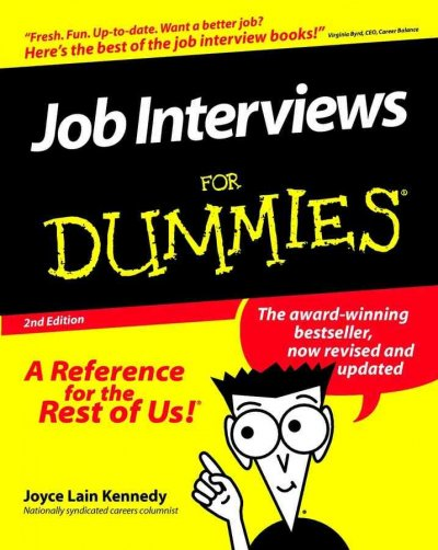 Job Interviews For Dummies cover