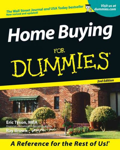 Home Buying For Dummies (For Dummies (Lifestyles Paperback)) cover