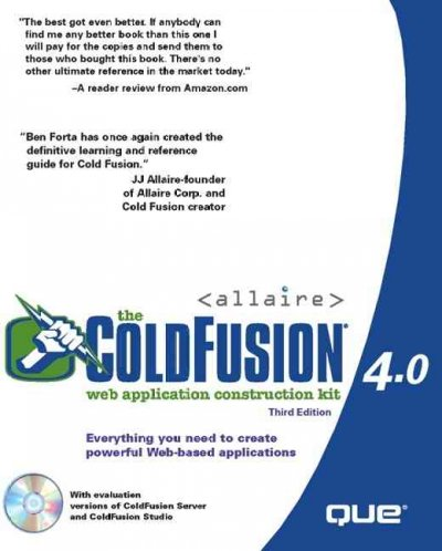 The ColdFusion 4.0 Web Application Construction Kit cover