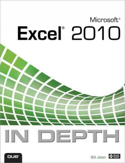 Microsoft Excel 2010 In Depth cover