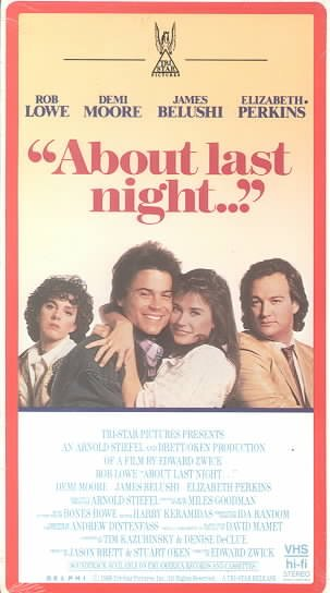 About Last Night [VHS] cover