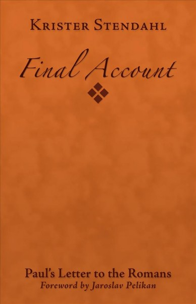 Final Account: Paul's Letter to the Romans cover