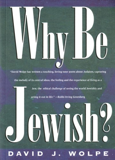 Why Be Jewish cover