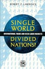 Single World, Divided Nations?: International Trade and the OECD Labor Markets cover