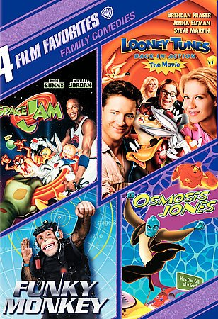 4 Film Favorites: Family Comedies (Funky Monkey, Looney Tunes Back In Action, Osmosis Jones, Space Jam) cover
