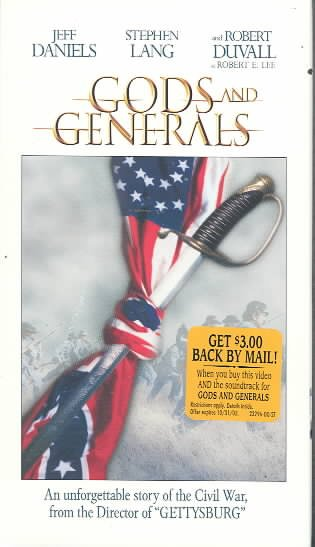 Gods and Generals [VHS] cover