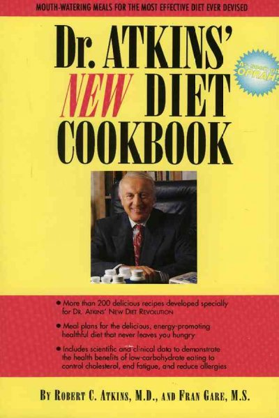 Dr. Atkins' New Diet Cookbook cover