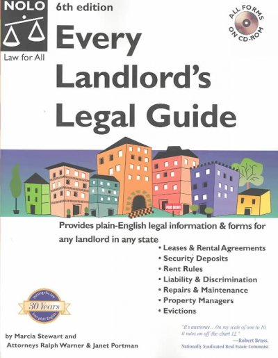 Every Landlord's Legal Guide with CDROM (Every Landlord's Legal Guide (W/CD)) cover