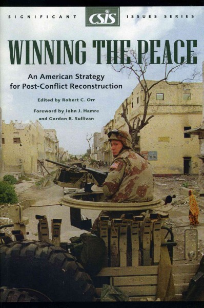 Winning the Peace: An American Strategy for Post-Conflict Reconstruction (Significant Issues Series) cover