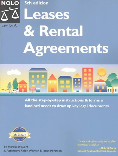 Leases and Rental Agreements (Leases & Rental Agreements) cover