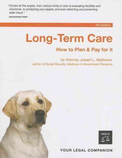 Long-Term Care: How to Plan & Pay for It cover