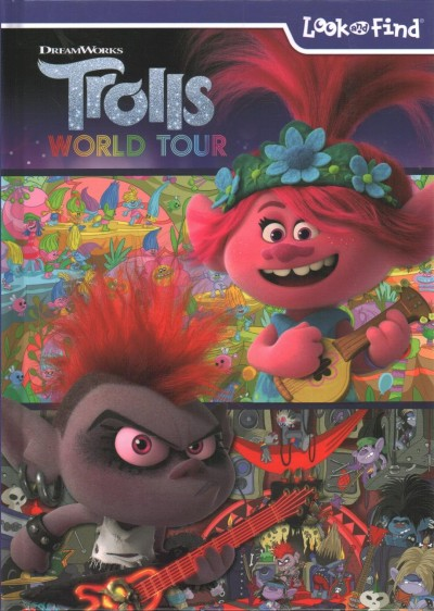 Dreamworks - Trolls World Tour Look and Find Activity Book - PI Kids cover
