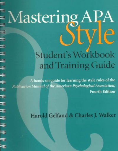 Mastering APA Style: Students Workbook and Training Guide cover
