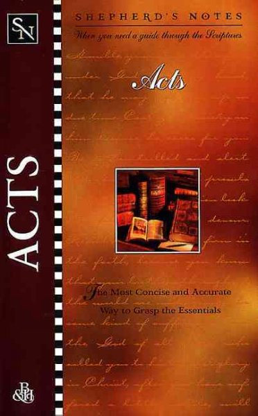 Acts (Shepherd's Notes) cover