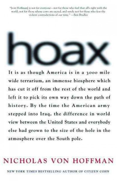 Hoax: Why Americans are Suckered by White House Lies (Nation Books) cover