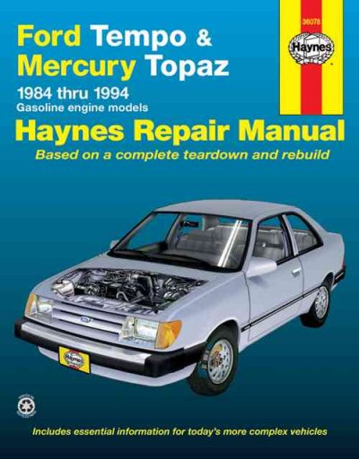 Ford Tempo & Mercury Topaz  '84'94 (Haynes Repair Manuals) cover