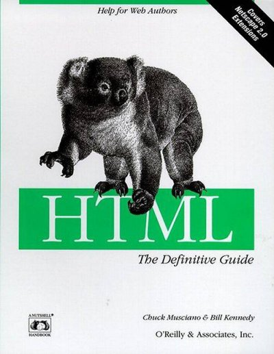 HTML: The Definitive Guide (Nutshell Handbooks) cover
