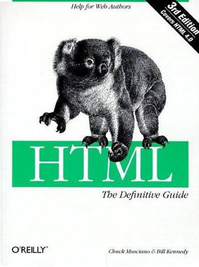 HTML: The Definitive Guide cover