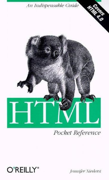 HTML Pocket Reference (Pocket Reference (O'Reilly)) cover