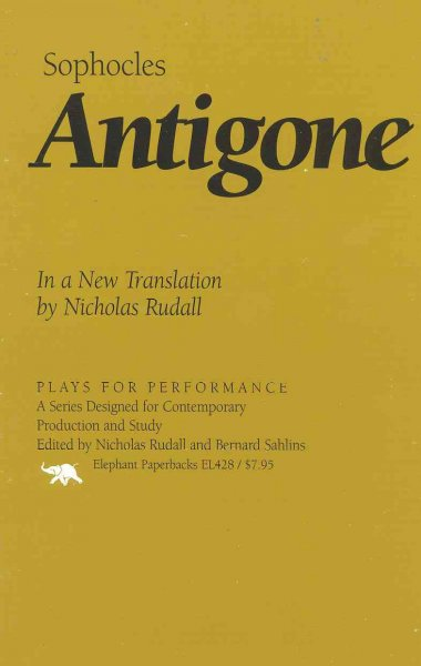 Antigone: In a New Translation (Plays for Performance Series) cover