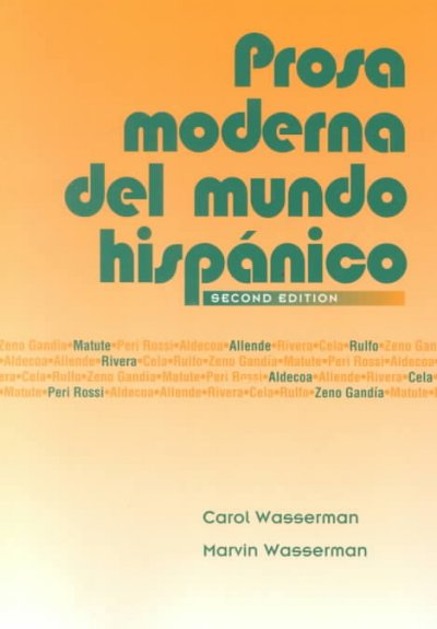 Prosa Moderna Del Mundo Hispanico (Spanish Edition) cover