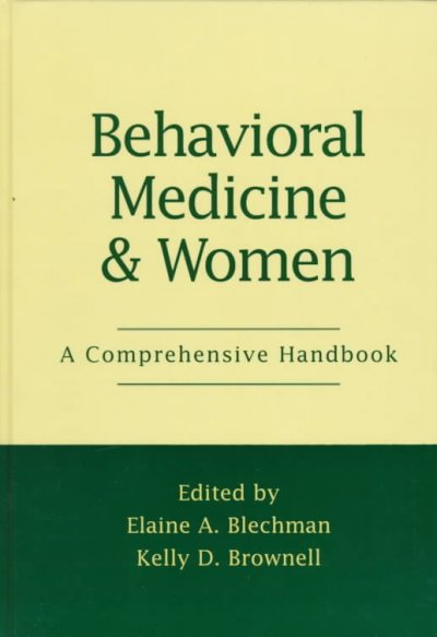 Behavioral Medicine and Women: A Comprehensive Handbook cover