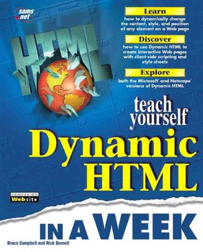 Sams Teach Yourself Dynamic HTML in a Week cover