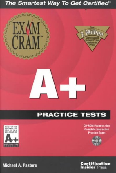 A+ Practice Tests Exam Cram cover